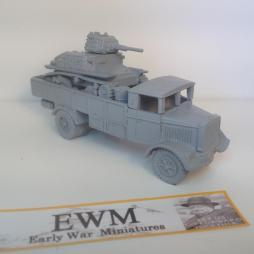 Lancia 3RO E  carrying L6 tank with loading ramps + stores.