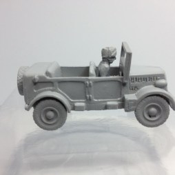 Fiat 508  military car and driver