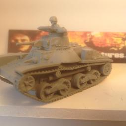 Type 95 Ha-Go Light Tank with Crewman.