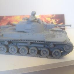 Type 97 Shinhota Chi-Ha Medium Tank & crewman.ALL METAL VERSION