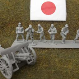 Type 38 75mm field gunn and 6 man crew as a set - saves 40p