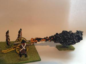 Gun fire marker with base x 1