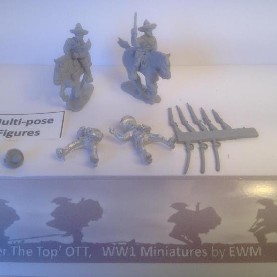 4 x Mexican cavalry in a pack