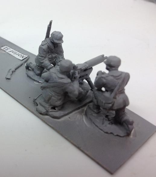 Infantry - Armed Colt Mitraljose M/29 Machine gun with 3 crew