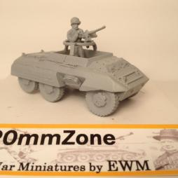 M20 utility scout car with .50 cal HMG, & crewman, stowage