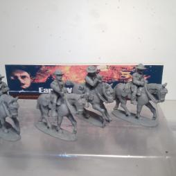 US Cavalry/Command set. 4  x US cavalry,  2 are multi-pose