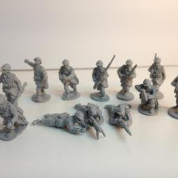 Belgian Infantry - 13 man Rifle section as a set