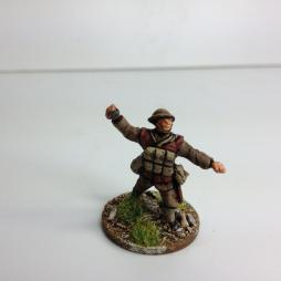 TL. 1 x Bomber throwing grenade wearing helmet and grenade vest