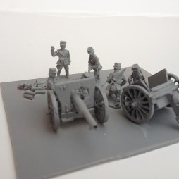 1 x 75mm Model 1897 Field Gun + Caison + 6 man crew