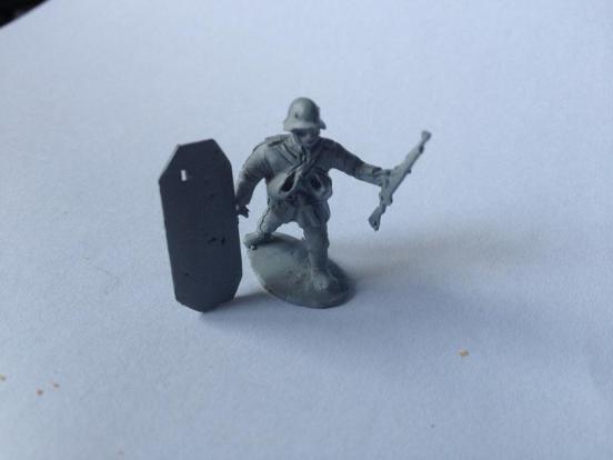 Stormtrooper carrying Sturmschild  (assault Shield).