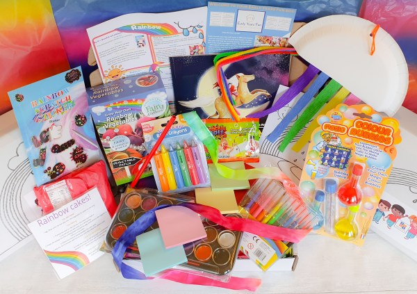 Subscription box, rainbow themed, craft, activity, children's activity