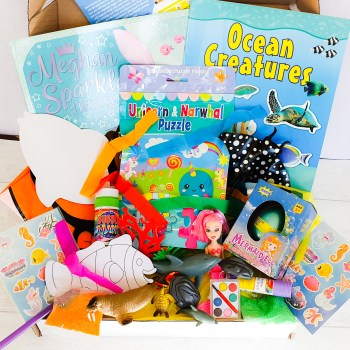 Subscription box, ocean themed, craft, activity, children's activity