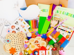 garden themed childrens activity subscription box