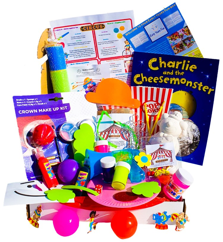 Subscription box, circus themed, craft, activity, children's activity