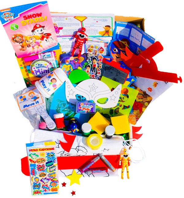 Subscription box, super hero themed, craft, activity, children's activity