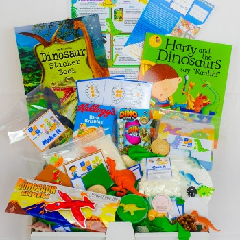 Subscription box, dinosaur themed, craft, activity, children's activity