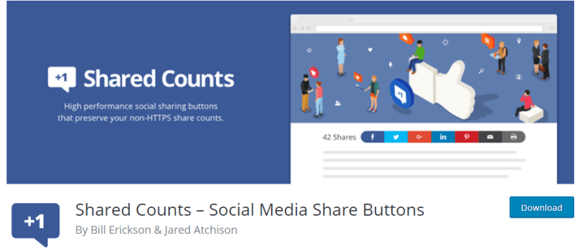 Shared Counts – Social Media Share Buttons Plugin