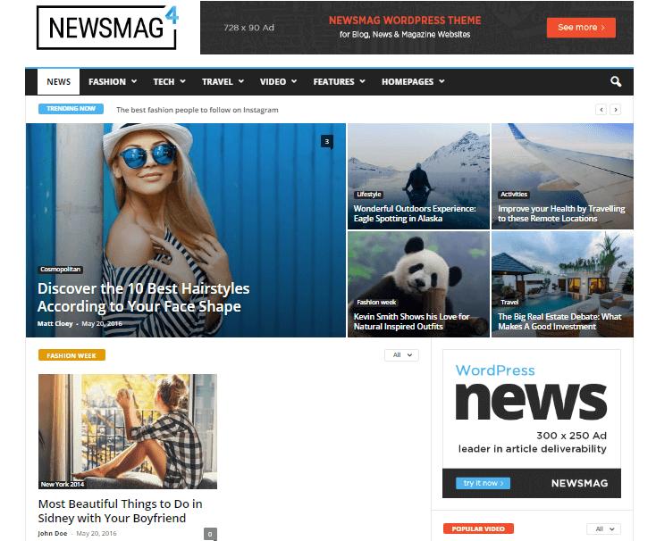 Newsmag - WordPress Blog & News Theme