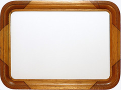 wooden picture frame, empty inside