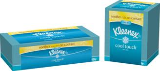 two boxes of kleenex facial tissue