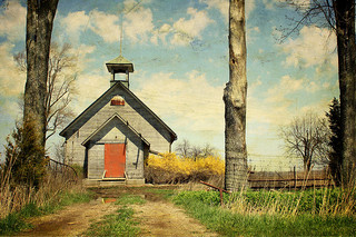 old schoolhouse out in country
