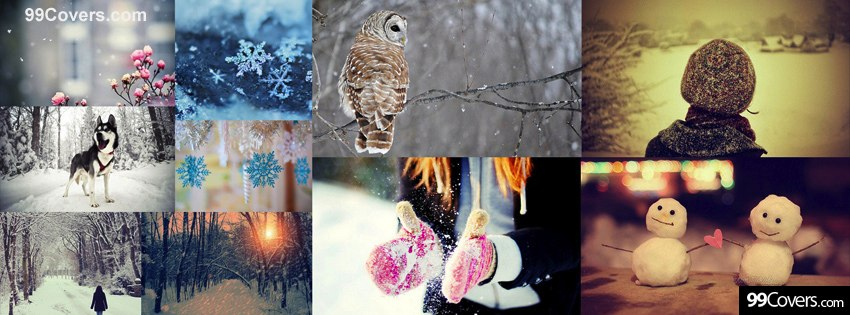 winter snow collage photo from 99covers.com