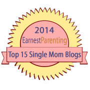 badge for 2014 top ten single mom blogs list