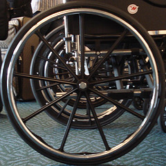wheel of a wheelchair