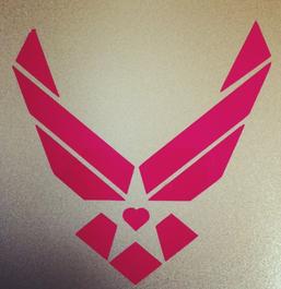 school logo with star, heart, wings