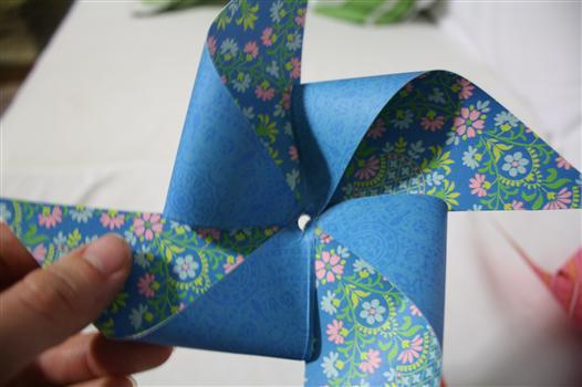hand made pinwheel for decoration