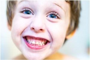 closeup of boy smiling at camera