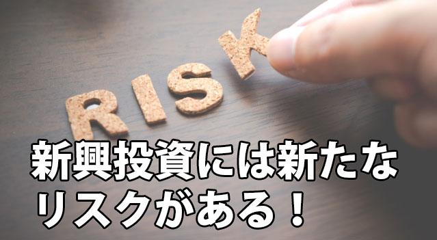 新興投資にはリスクがある