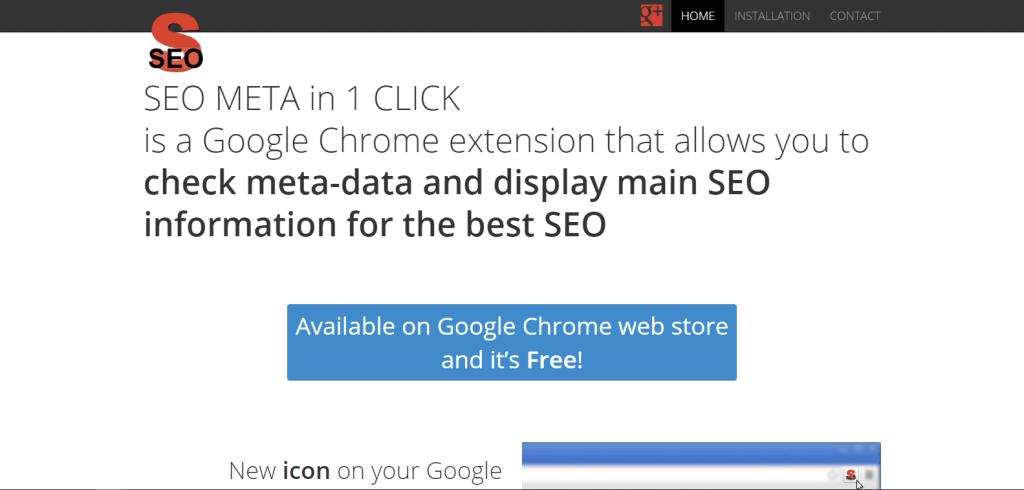 SEO Meta in 1 Click Chrome Extension