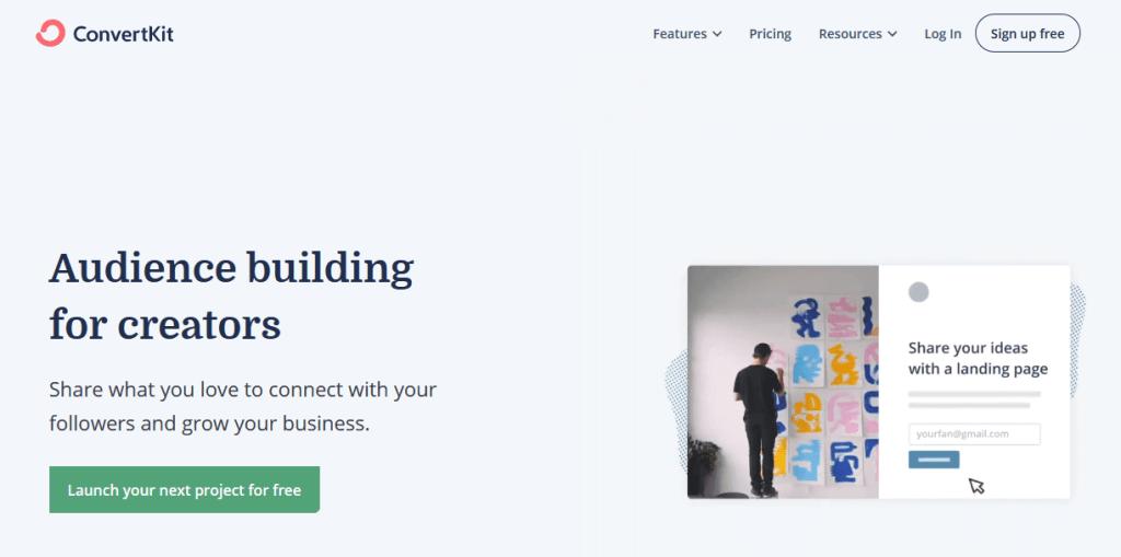 ConvertKit Email Marketing Service