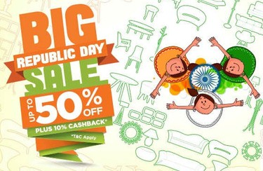 Pepperfry Republic Day Sale – Get Upto 50% Off + 10% Cashback