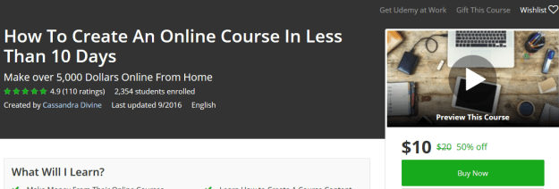 How To Create An Online Course In Less Than 10 Days