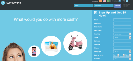 isurveyworld - paid online survey sites