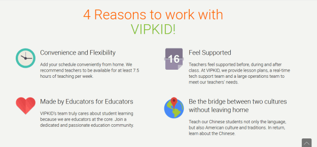 4 reasons to work with VIPKid