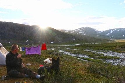 fjaellraeven-classic-Tag-2-Sonnenuntergang