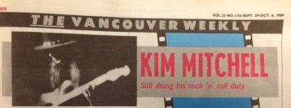 Kim Mitchell ponders Max Webster's past while on the Rockland tour