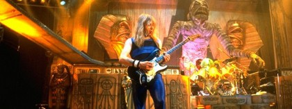 Iron Maiden plays Vancouver on the Powerslave tour, Dave Murray talks to the Newt
