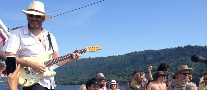 Vancouver guitar ace Todd Taylor shows off his New Vehicle