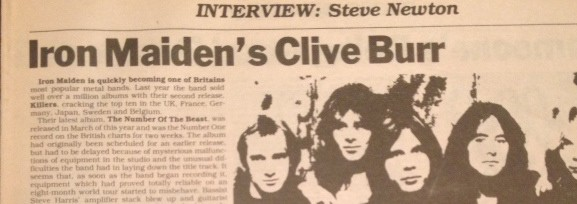 Iron Maiden's Clive Burr on Martin Birch, Ruddles, and The Number of the Beast