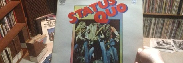 "Thinking nice thoughts of Rick Parfitt while listening to ""Big Fat Mama"" from Status Quo's Piledriver"