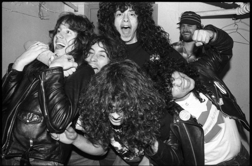 That time I photobombed Armored Saint backstage when they were opening for Metallica on the Ride the Lightning Tour