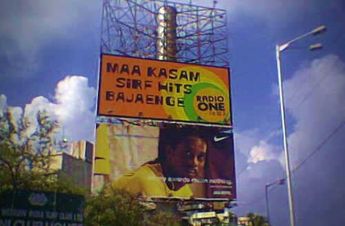 Radio One 94.3 poster in Mumbai