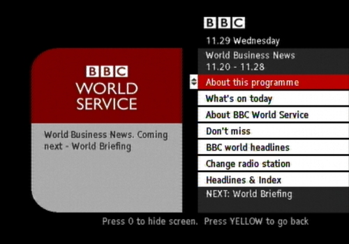 BBC World Service on Freeview