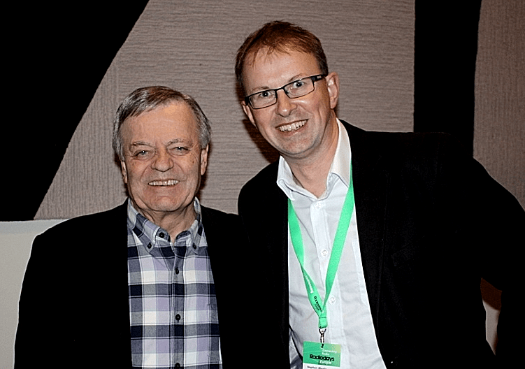 Tony Blackburn and Steve Martin