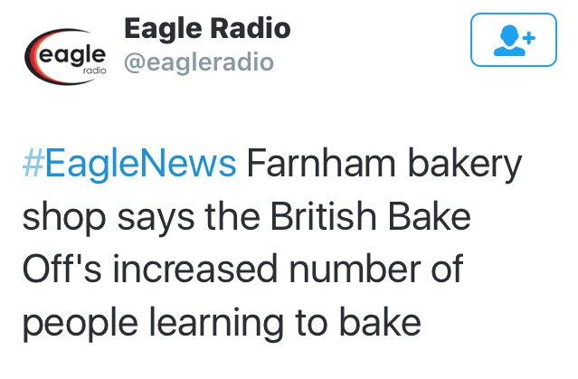 Eagle Radio news story about a local cake store