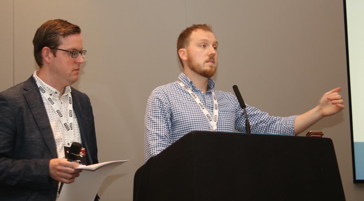 Dan Seavers (left) and Rick Loynes of Wireless Group